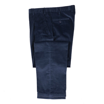 Brioni Ink Blue Cotton Corduroy Pants