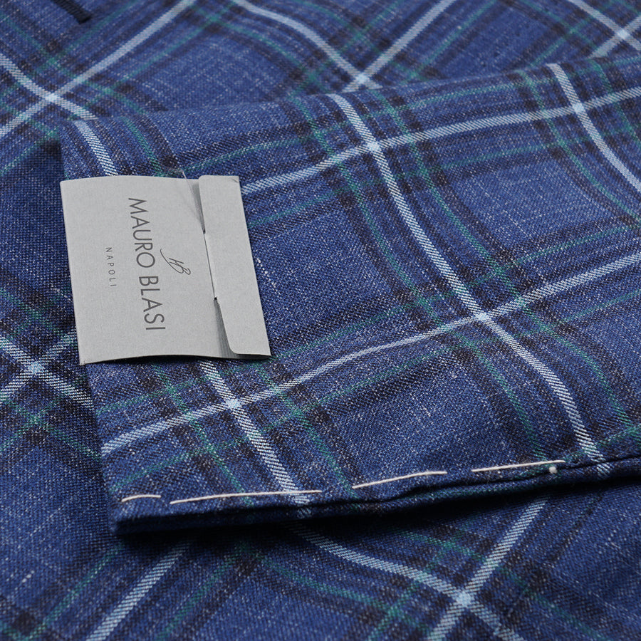 Mauro Blasi Blue Check Wool Sport Coat