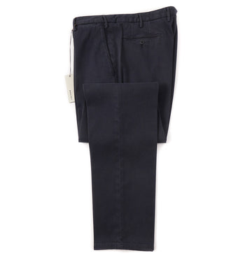 Boglioli Slim-Fit Cotton Chinos in Patterned Navy Blue