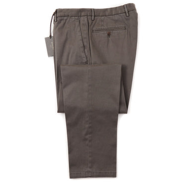 Boglioli Slim-Fit Cotton Chinos in Olive Green