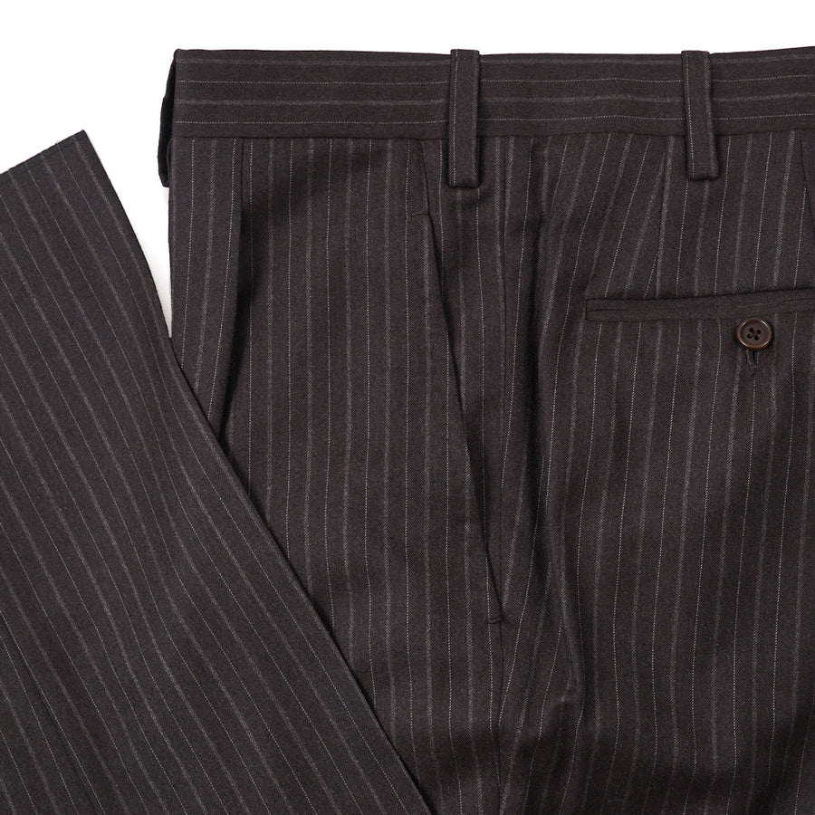 Kiton Chalk Stripe Super 180s Wool Suit