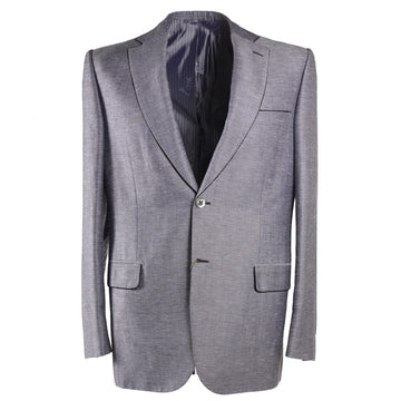 Brioni Silvery Gray Patterned Sport Coat