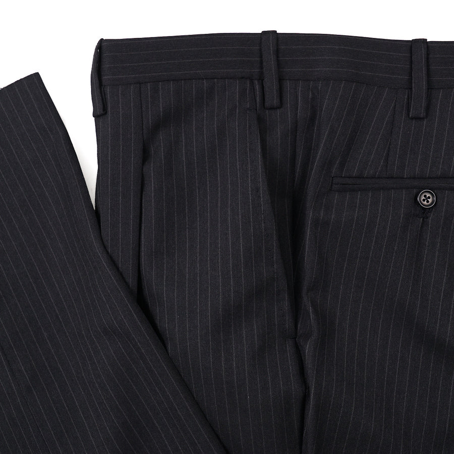 Kiton Charcoal Gray Stripe Super 180s Suit