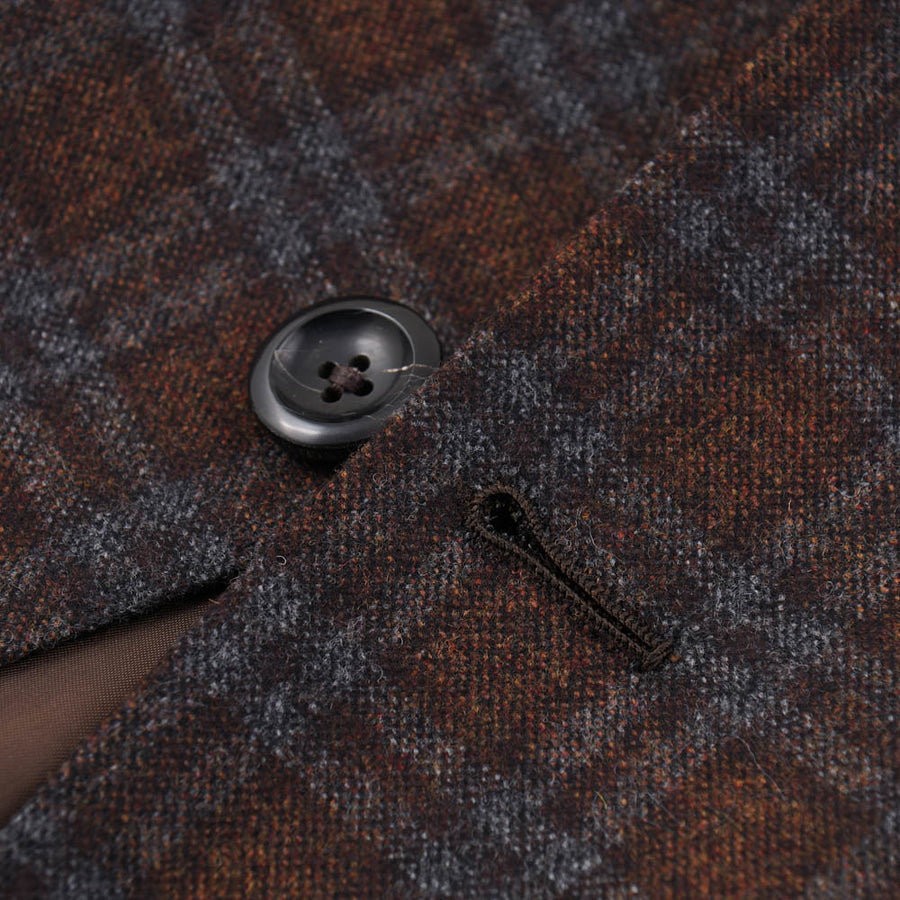 Oxxford Brown Check Wool-Cashmere Sport Coat