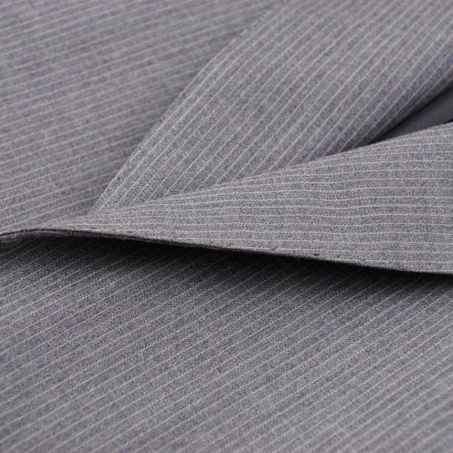 Brioni Mid Gray Stripe Wool and Silk Suit