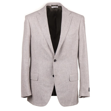 Belvest Soft Flannel Melange Wool and Silk Suit