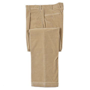 Brioni Tan Corduroy Cotton Pants