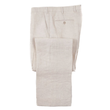 Brioni Light Beige Linen Dress Pants