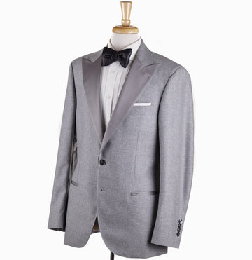 Brunello Cucinelli Gray Flannel Wool-Cashmere Dinner Jacket