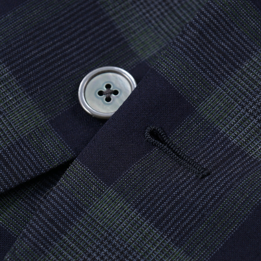 Belvest Layered Check Wool Sport Coat