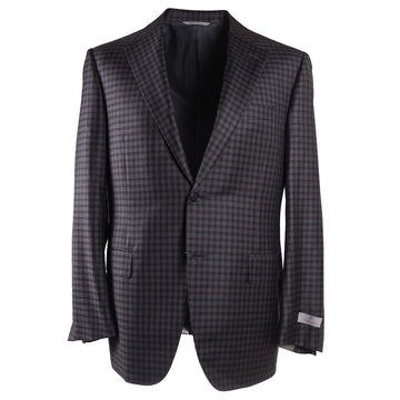 Canali Gray Check Wool Sport Coat
