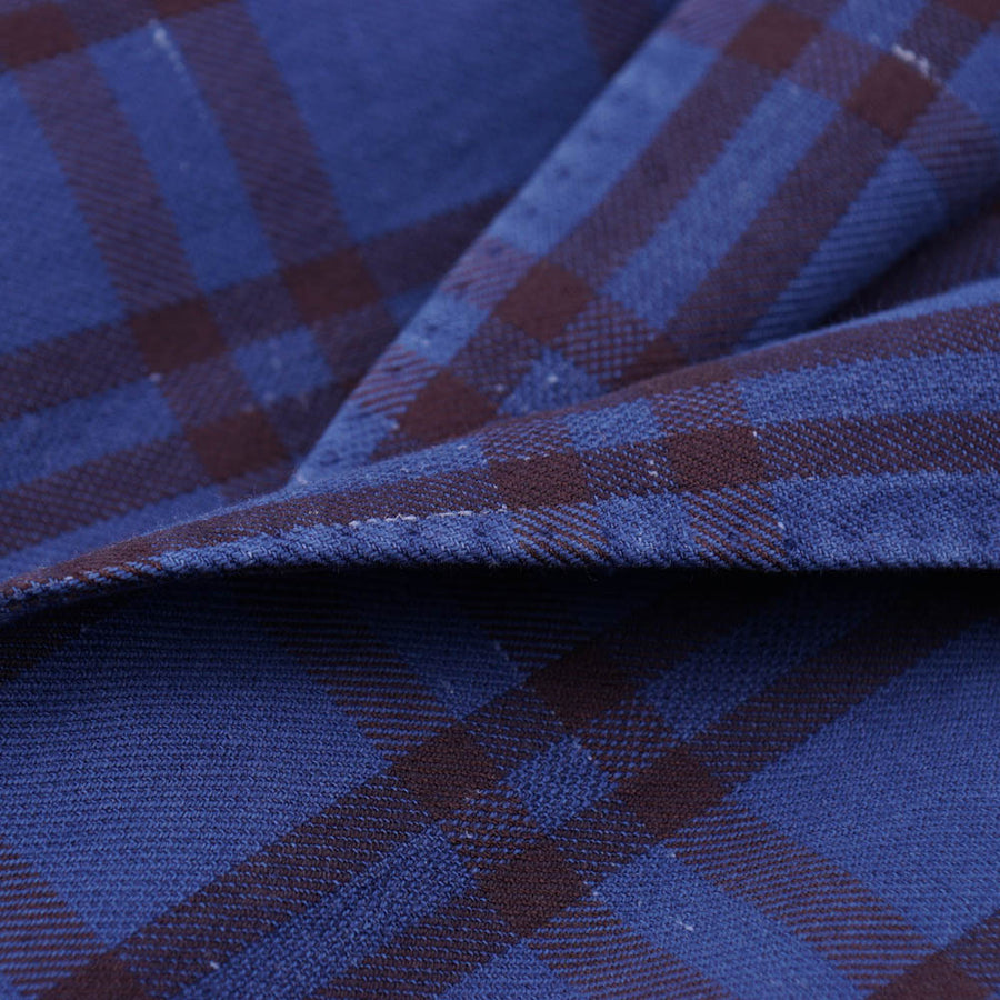L.B.M. 1911 Blue Check Cotton-Linen Sport Coat