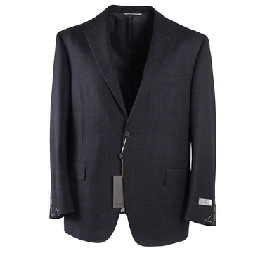 Canali Windowpane Check Wool Suit