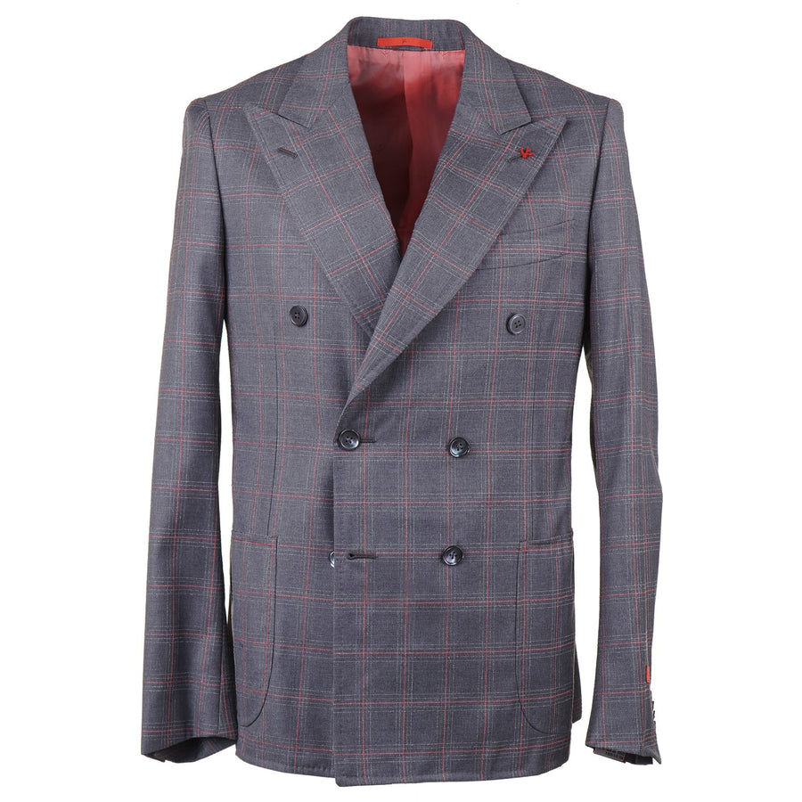 Isaia Slim-Fit Woven Check Wool Suit - Top Shelf Apparel
