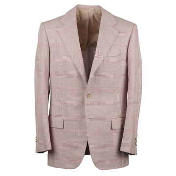 Cesare Attolini Layered Check Cotton Sport Coat