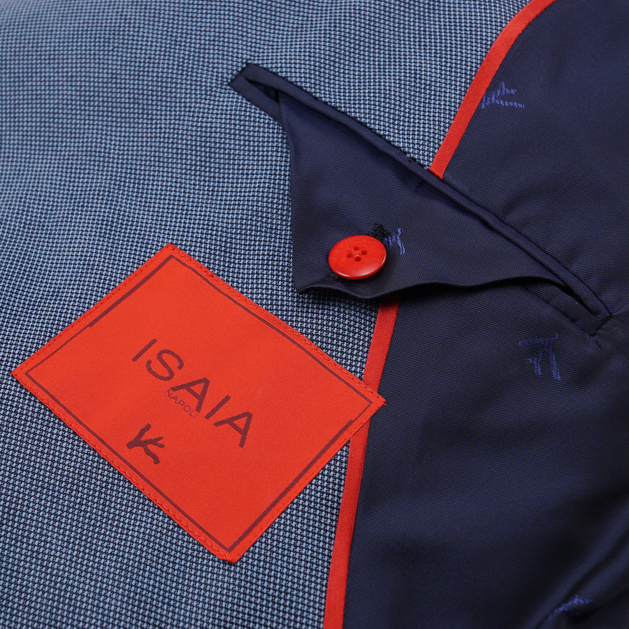 Isaia Blue Birdseye Wool Blend Sport Coat - Top Shelf Apparel