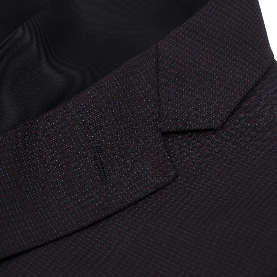 Canali Slim-Fit Micro Patterned Wool Suit - Top Shelf Apparel