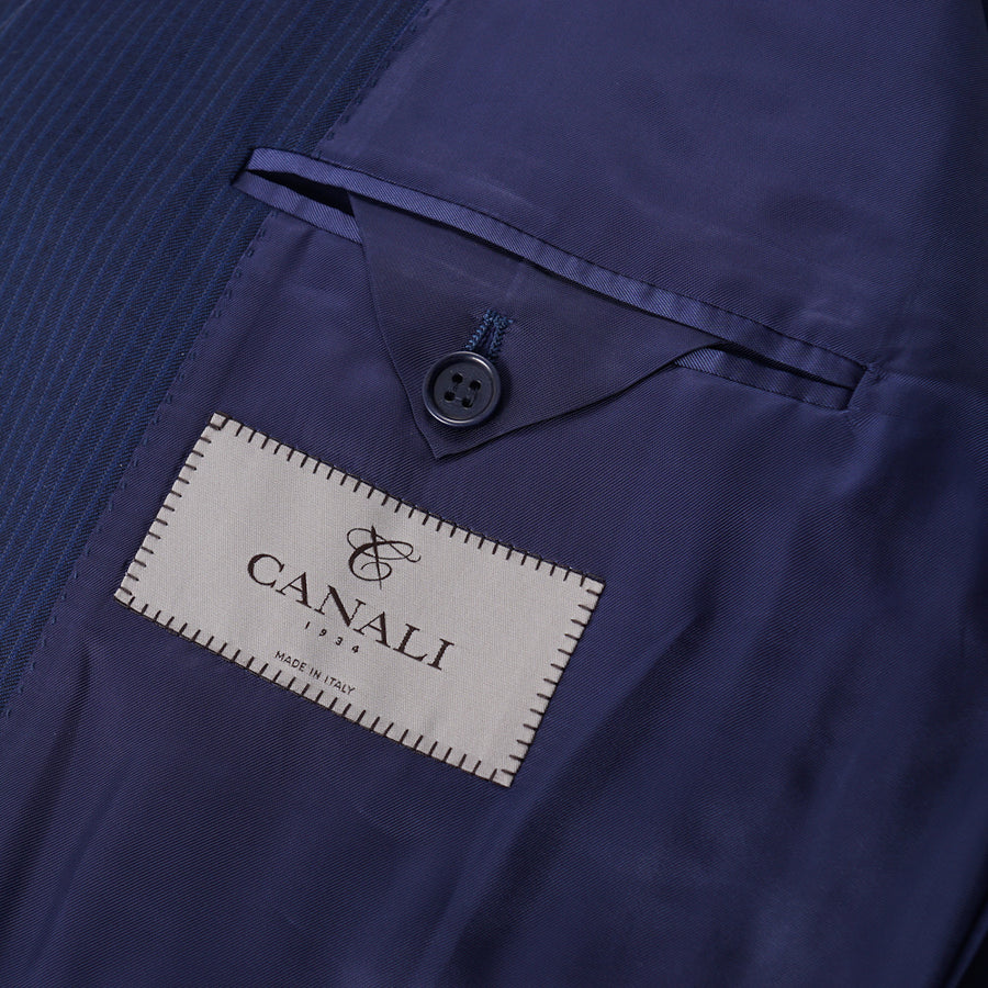 Canali Brighter Navy Blue Wool Suit