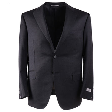 Canali Standard-Fit Solid Gray Wool Suit - Top Shelf Apparel