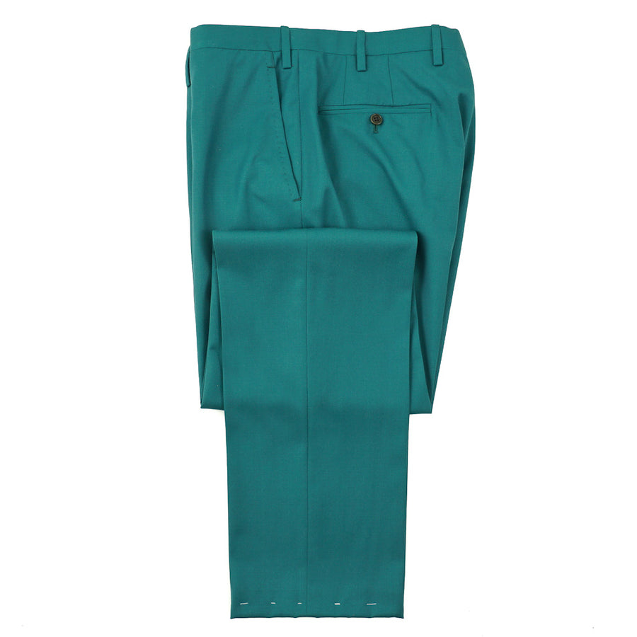 Kiton Teal Green Super 180s Suit