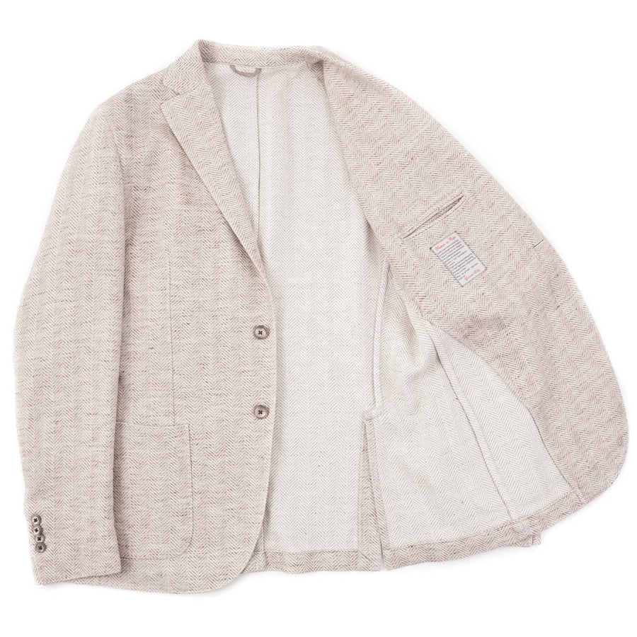 L.B.M. 1911 Herringbone Cotton-Linen Sport Coat
