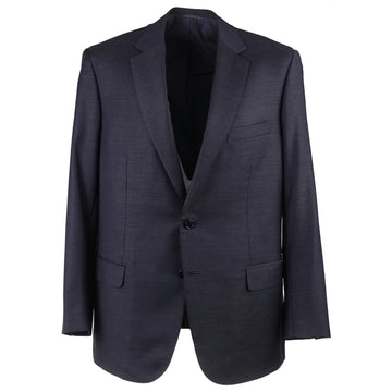 Brioni Dark Blue-Gray Striped Wool Suit