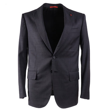 Isaia Micro Patterned Wool Suit