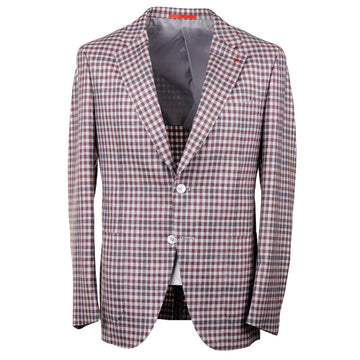 Isaia Layered Check Wool-Cashmere-Silk Sport Coat