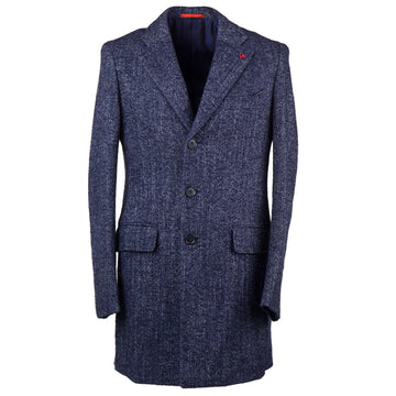 Isaia Soft Herringbone Wool-Alpaca Overcoat
