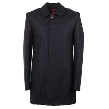 Isaia Aqua Flannel Wool Overcoat