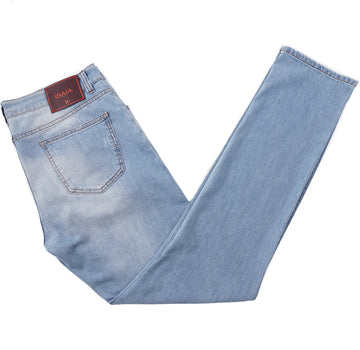 Isaia Modern-Fit Sanded Denim Jeans