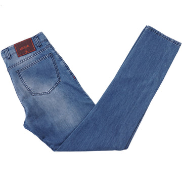 Isaia Soft Cotton-Cashmere Denim Jeans