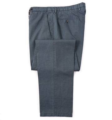 Boglioli Cotton-Linen Pants in Sea Green