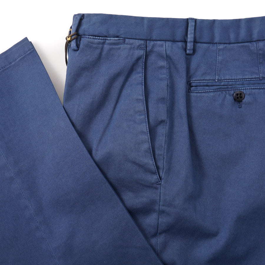 Boglioli Slim-Fit Cotton Chinos in Medium Blue