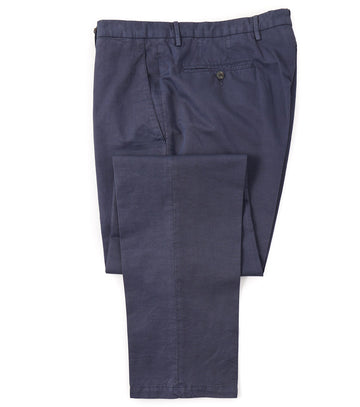 Boglioli Cotton-Linen Pants in Navy Blue