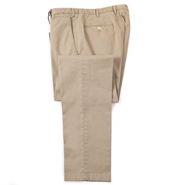 Boglioli Slim-Fit Cotton Chinos in Tan