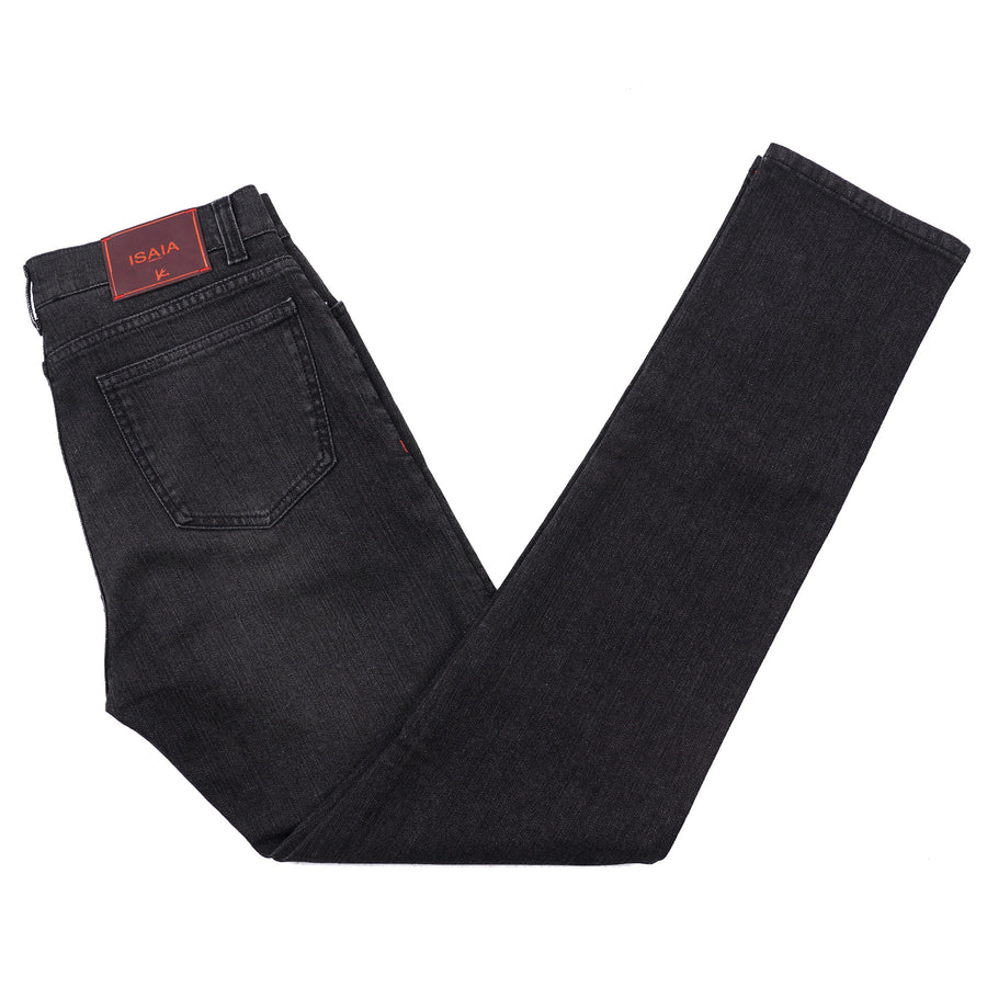 Isaia Regular-Fit Stretch Denim Jeans