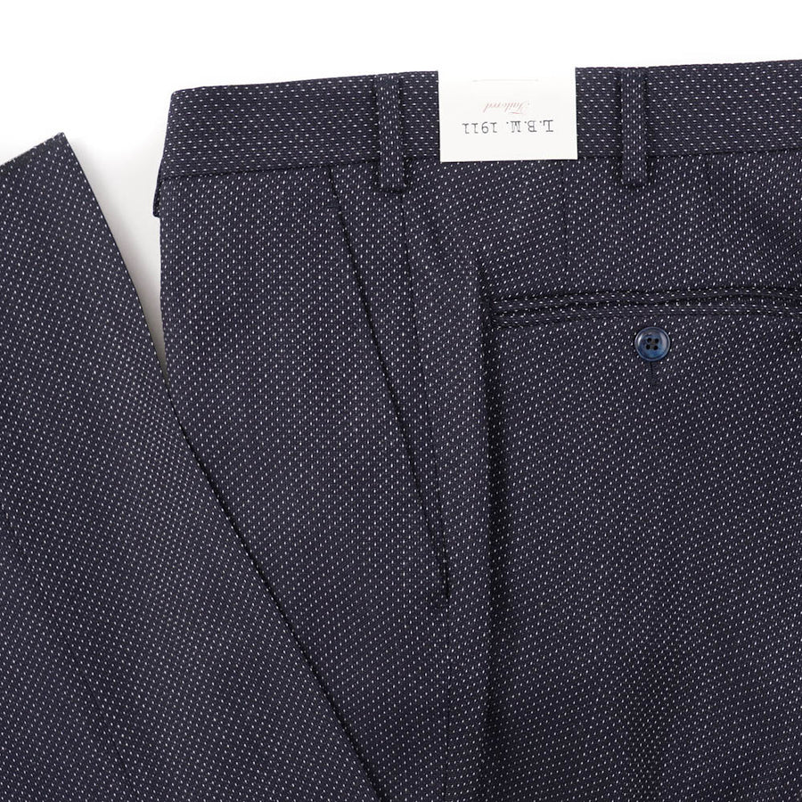 L.B.M. 1911 Navy Patterned Wool Pants