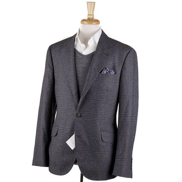 Brunello Cucinelli Glen Plaid Wool-Silk-Cashmere Sport Coat