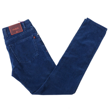 Isaia Slim-Fit Corduroy Cotton Jeans