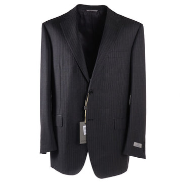 Canali Gray-Black Stripe Wool Suit