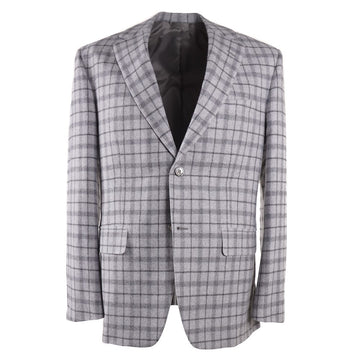 Oxxford Gray Check Wool-Cashmere Sport Coat