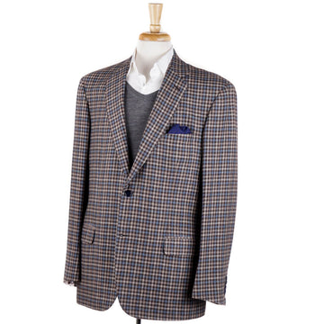 Brioni Brown-Blue Check Cashmere Sport Coat