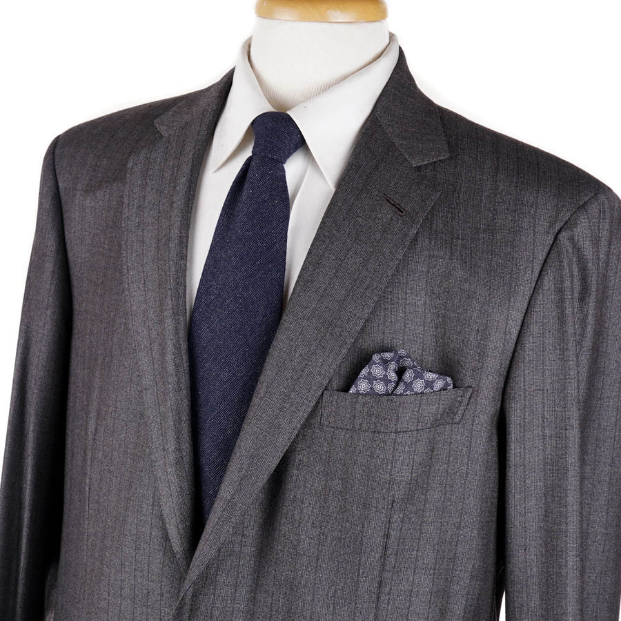 Brioni Gray Stripe Soft-Woven Wool Suit