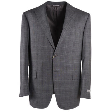 Canali Gray Check Wool Suit