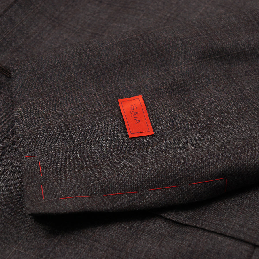 Isaia Subtle Checked Wool Suit