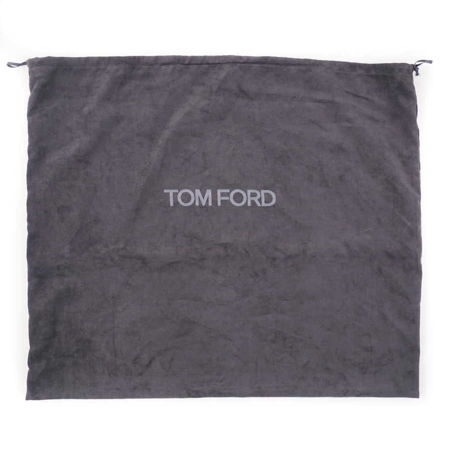 Tom Ford Double-Zip Leather Laptop Briefcase in Gray