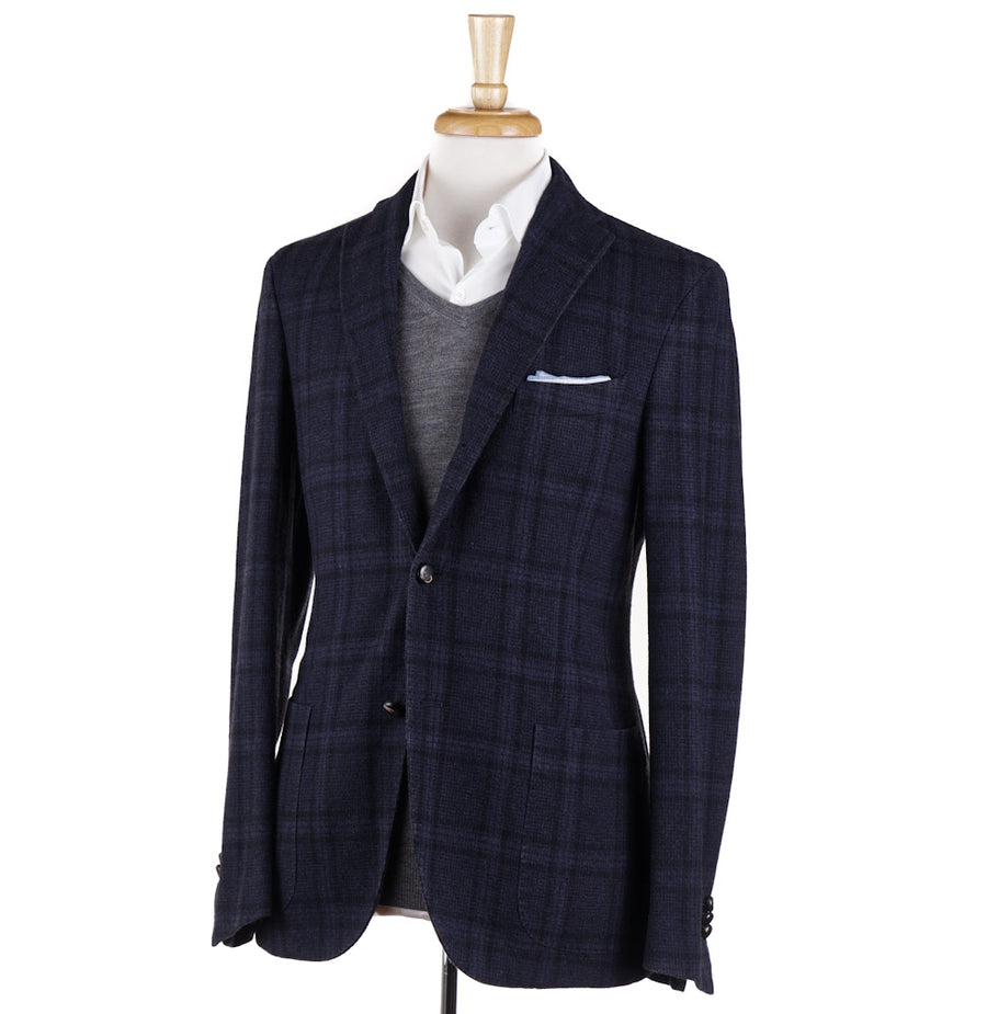 90925e1c8e8 Boglioli Dark Blue Check Wool-Cashmere Sport Coat – Top Shelf Apparel