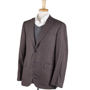 Oxxford Light Brown Check Cashmere Sport Coat