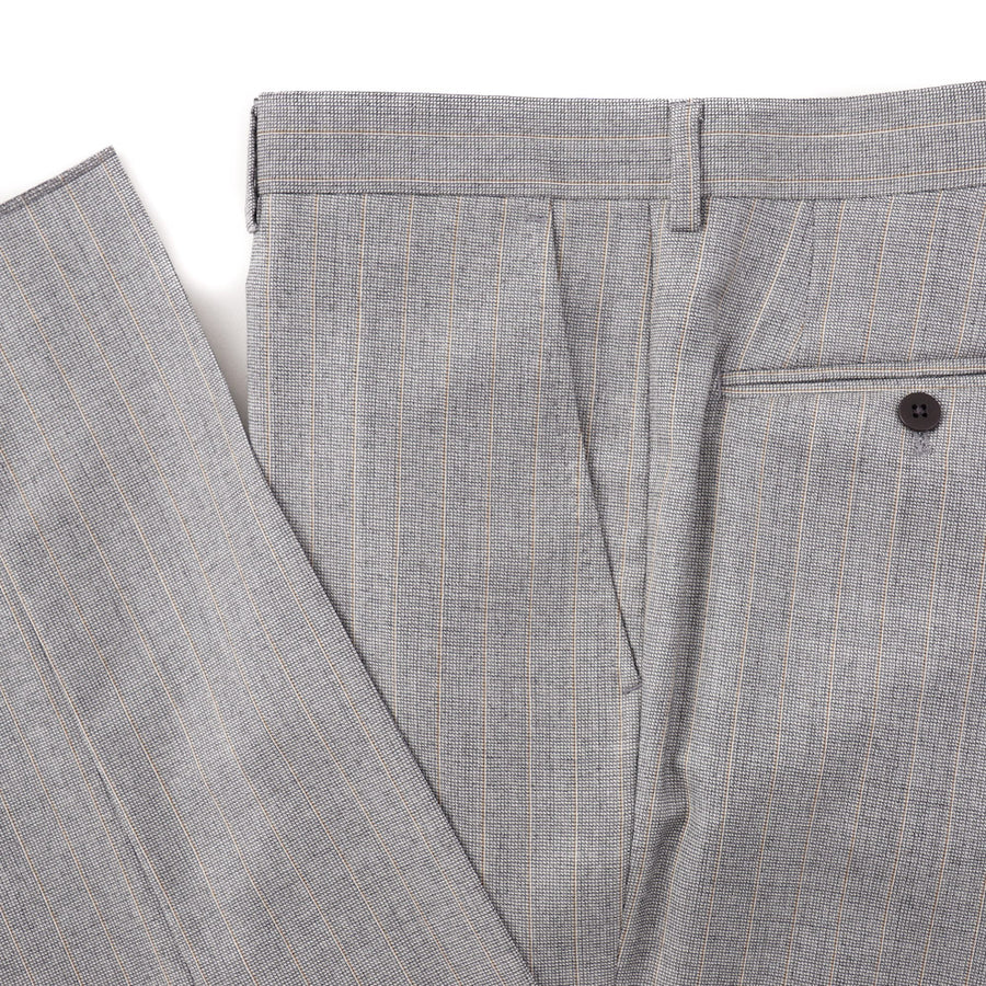 Isaia Light Gray Striped Super 130s Wool Suit